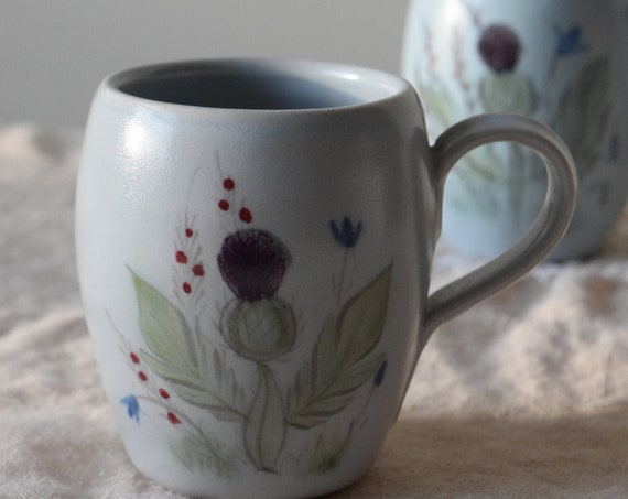 Buchan Thistle Stoneware Coffee Cups