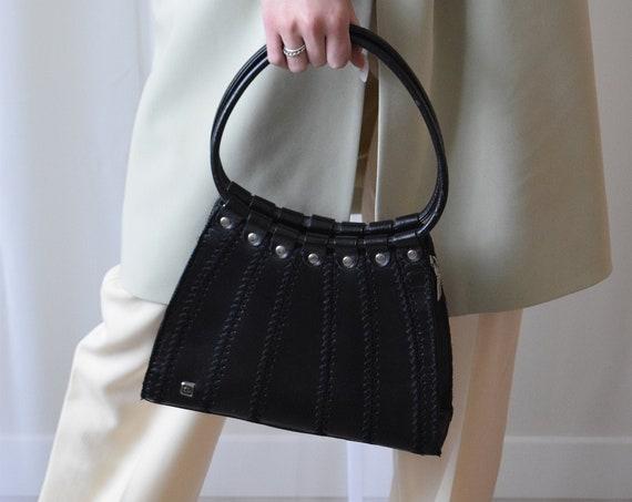 Faux Leather Patchwork Handbag