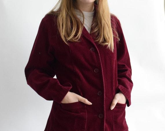 Cranberry Corduroy Waistcoat