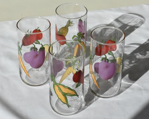 Vegetable Drinking Glass Set.