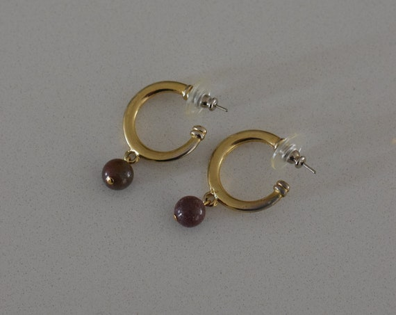 Purple Jasper Hoops