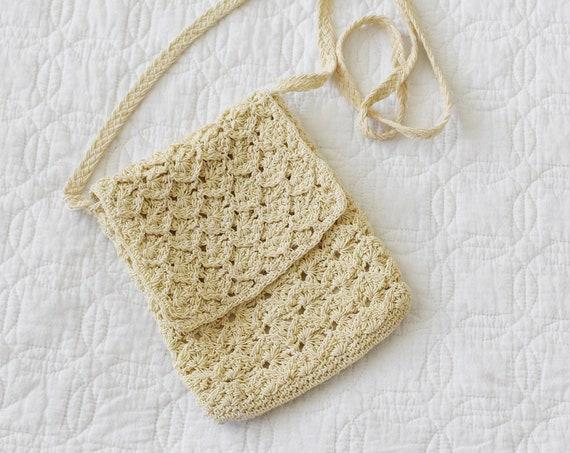 Braided Crochet Pouch Purse