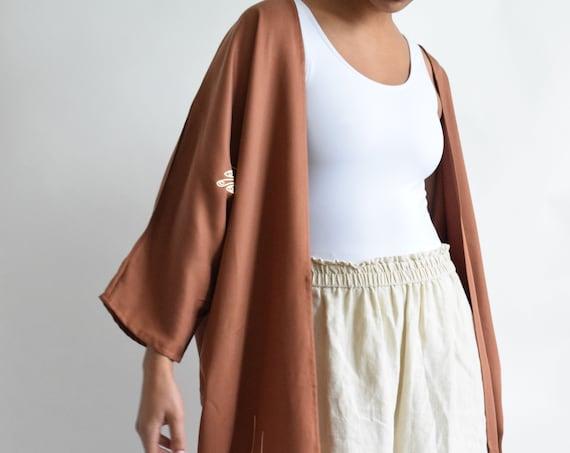 Maron  Jacket in Terracotta Tencel  |  Print Optional
