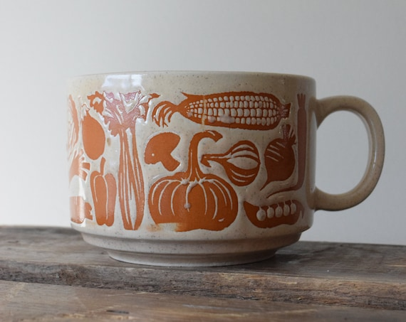 Vintage Japanese Ceramic Soup Cup