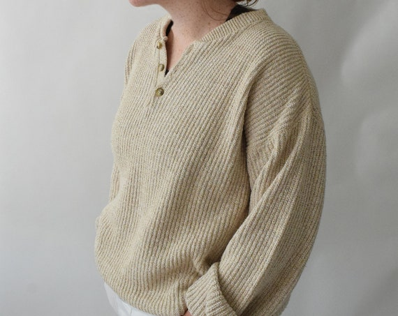 Oversized Oat Fishermans Sweater
