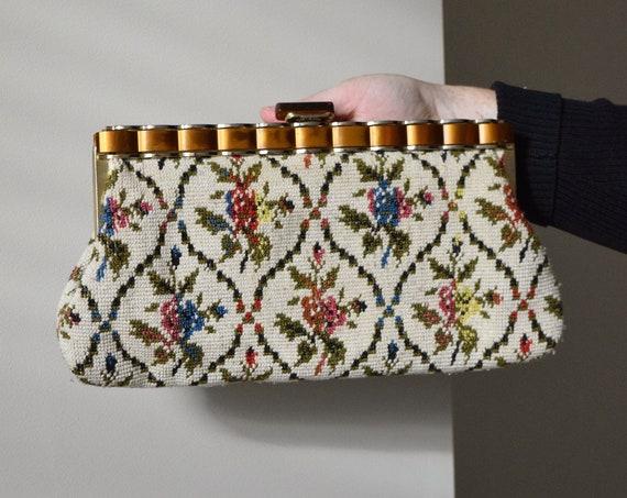 Floral Cross-stitch Clutch