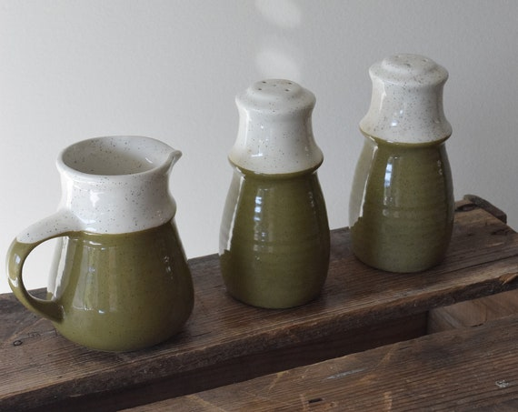 Peppered Olive English Stoneware Set.
