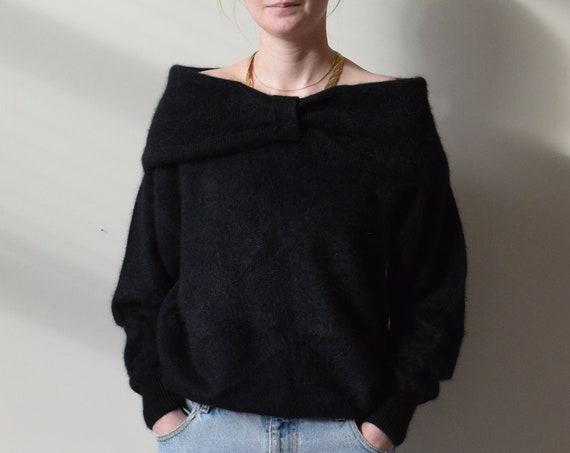 Angora & Lambswool Off Shoulder Sweater