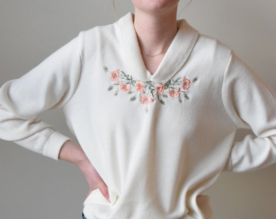 Embroidered Pull Over Sweater