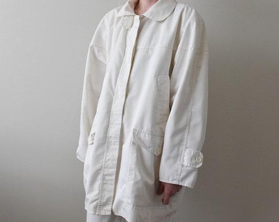 White Chore Jacket
