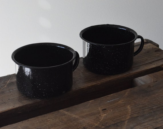 Black Enamel Cups