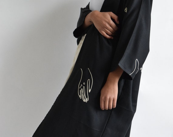 Maron Jacket in Black Tencel   | Print Optional