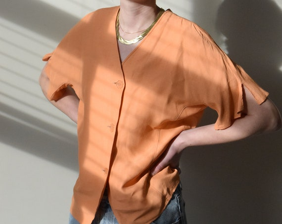 Apricot Button Up Tee
