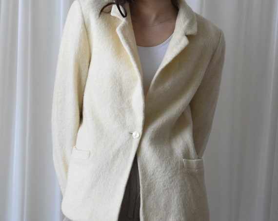 Cream Wool Blazer