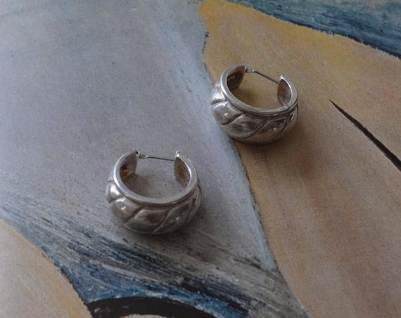 Silver Chunky Hoops