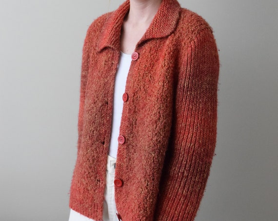 Thick Mulled Brick Cardigan