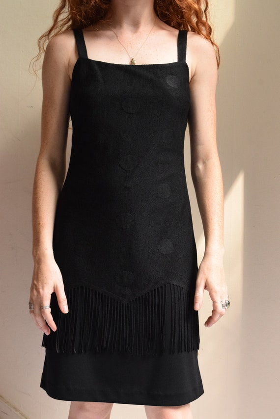Black Tasseled Flapper Dress