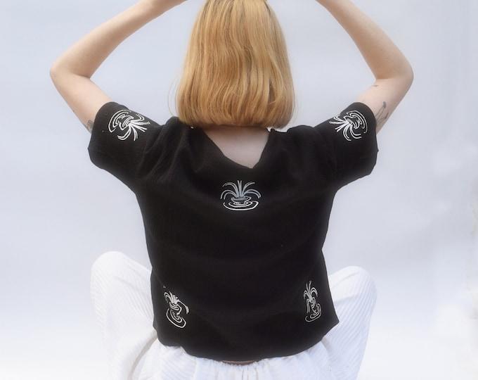 Featured listing image: Tilda Tee Black      Print Optional