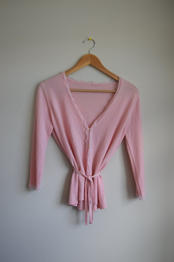 Pink Cashmere Cardigan