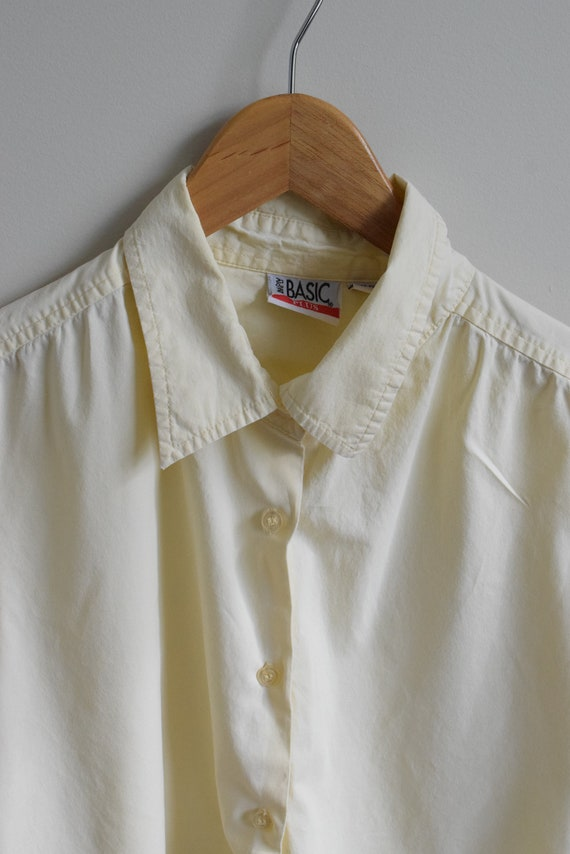 Pale Lemon Cotton Shirt
