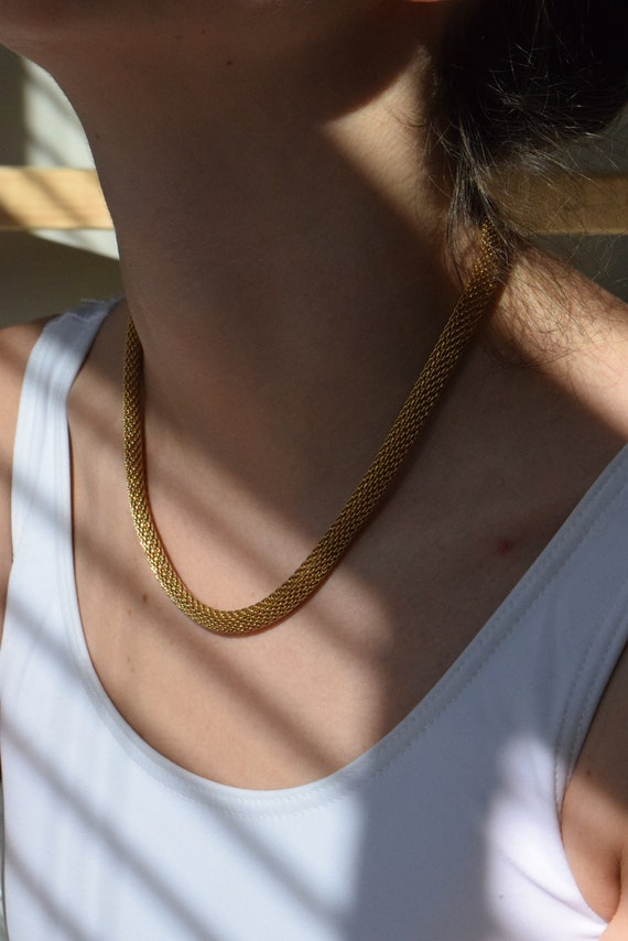 Gold Cord Chain Necklace