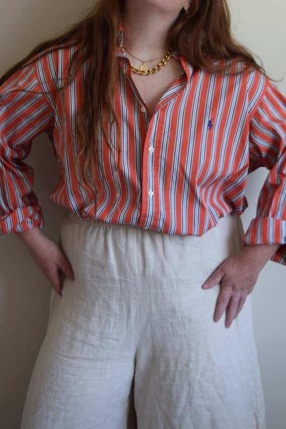 Ralph Lauren Pinstripe Lounge Shirt - image 1