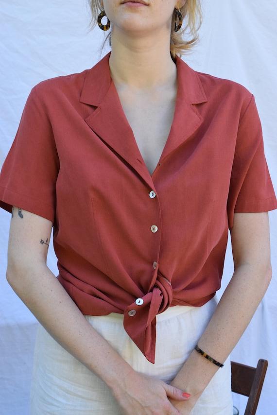 Brick Silk Short Sleeve  |  Print Optional