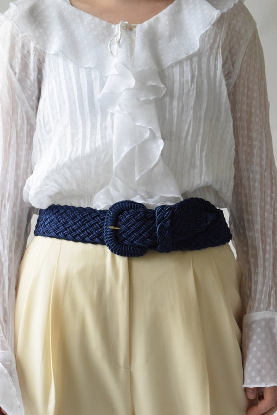 Cobalt Blue Braided Belt