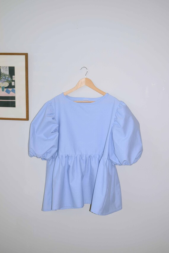 One of a Kind  Blue Puff Sleeve