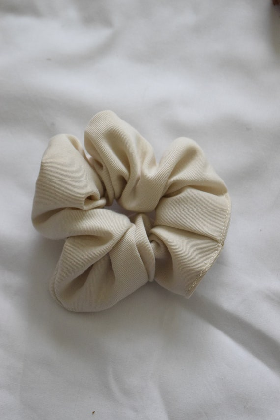 Bone Tencel Hair Scrunchies
