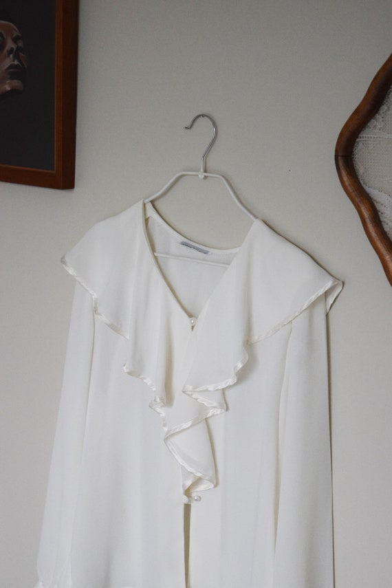 Waterfall Crepe Blouse