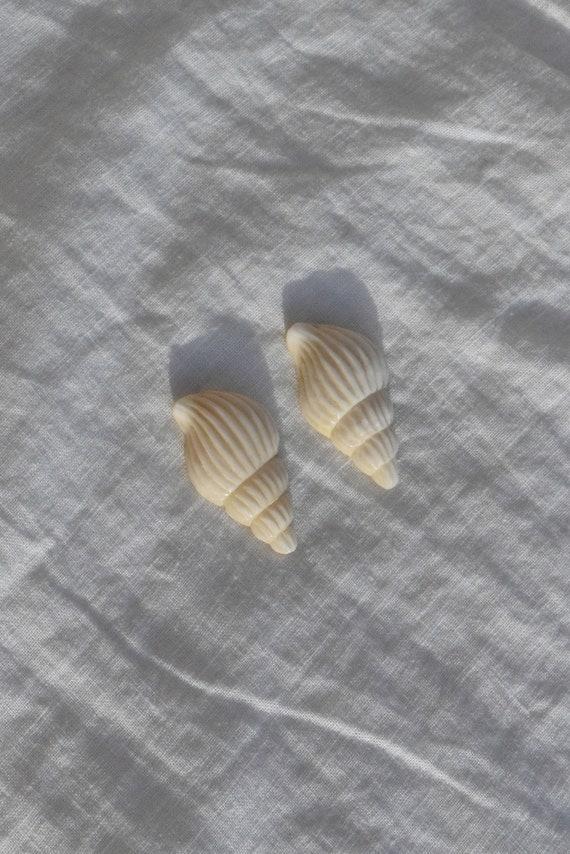 Bone Seashell Studs.