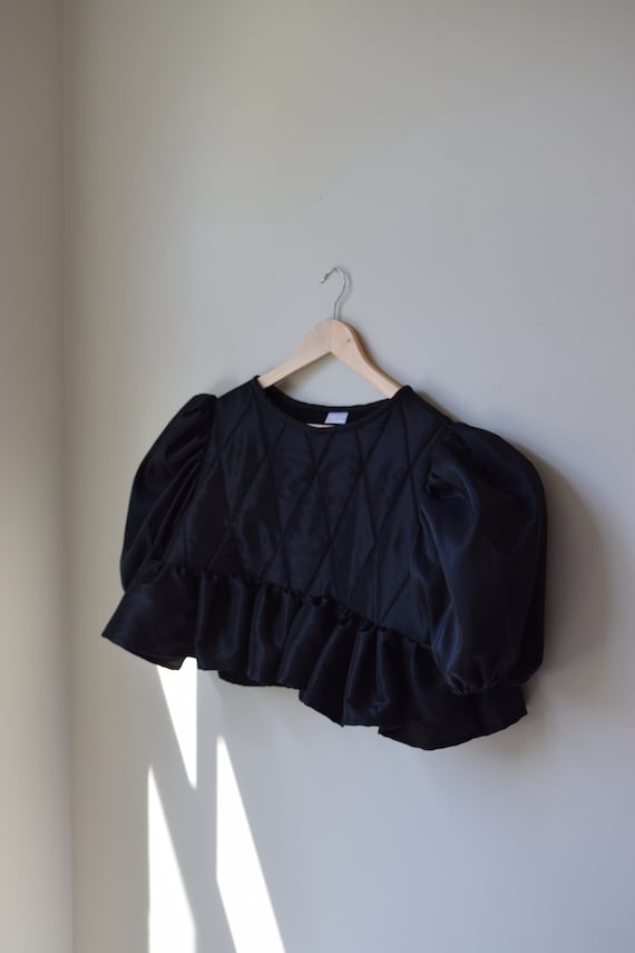 Quilted Puff Sleeve Top