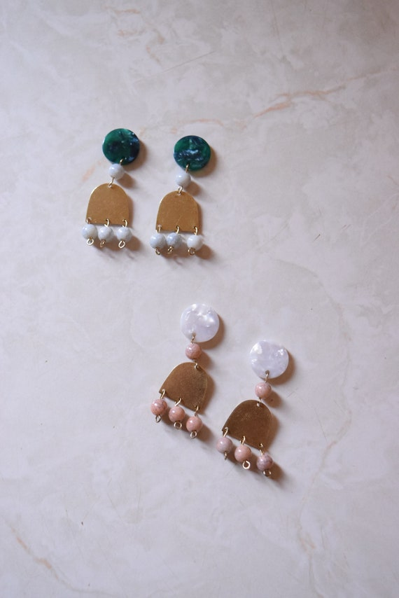 Cyrus Brass and Acetate Earrings.