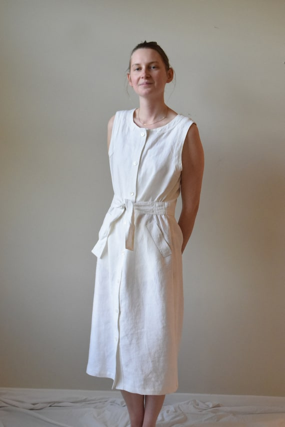No 6. Store White Linen Market Dress