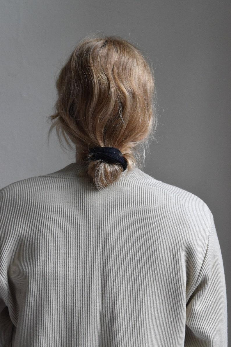 Ginger Ribbed Wool Blend Cardigan