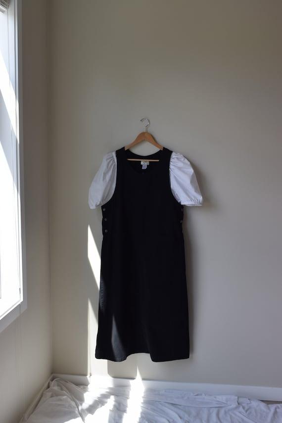 Black Cotton Layering Dress