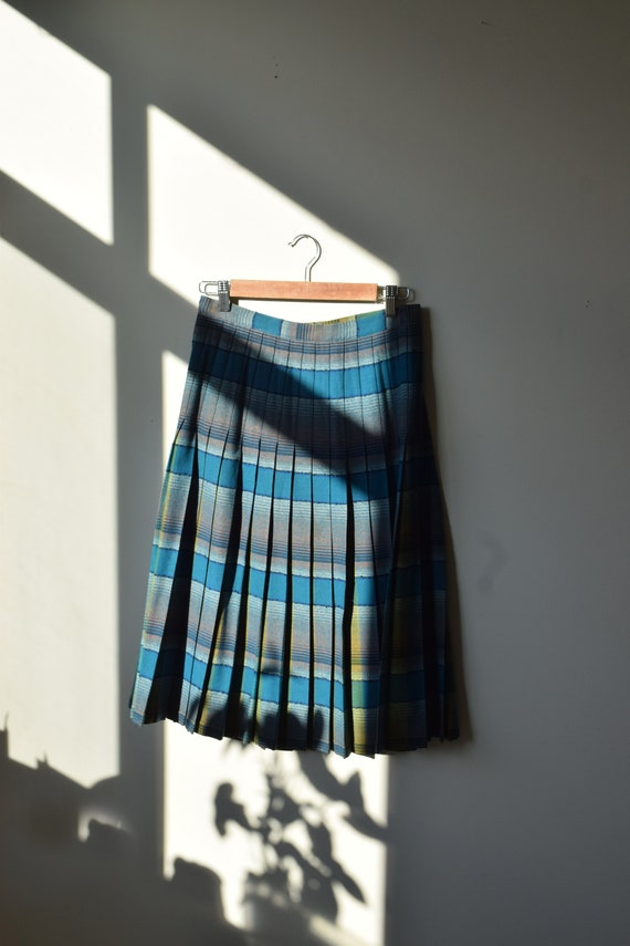 Reversible Pleated Wool Skirt