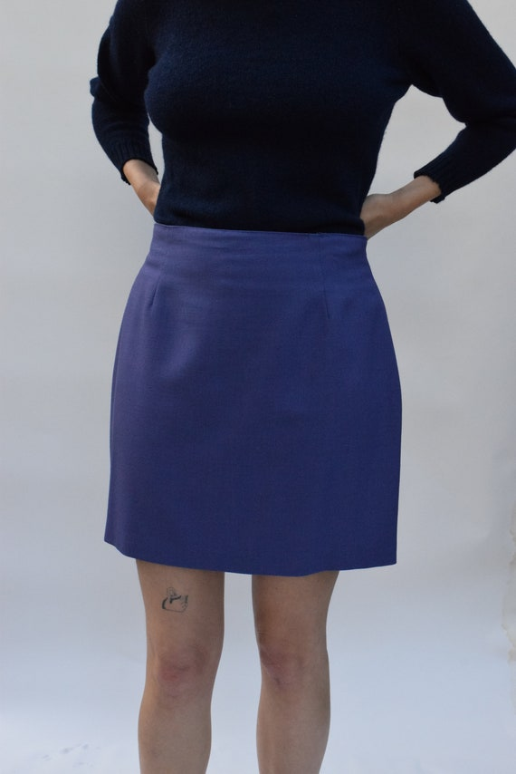 Purple A-Line Mini Skirt