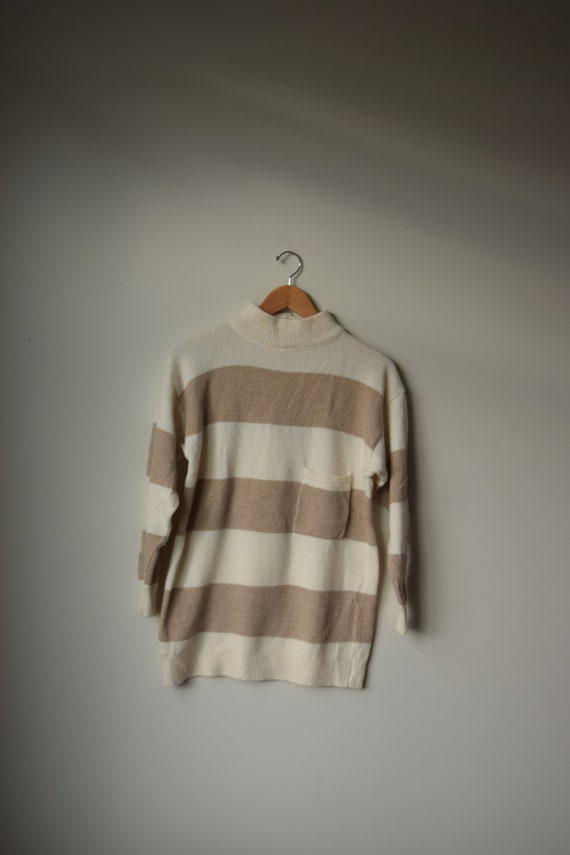 Striped Wool Turtleneck