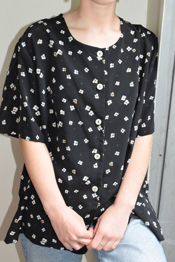 Floral Button Up Tee.