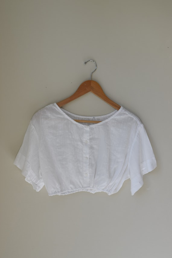 White Cotton Bralette