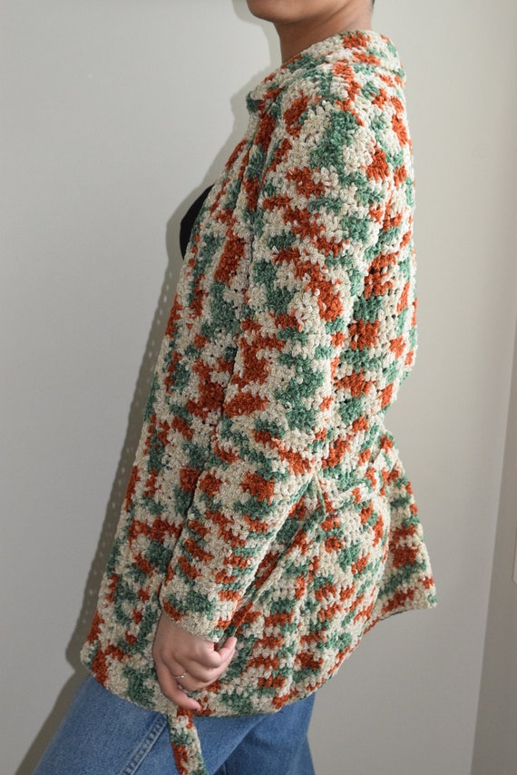 Crochet Belted Cardigan