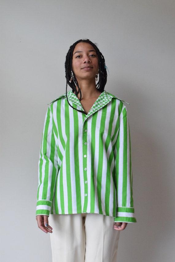 Vintage Reversible Lime Pinstripe Shirt