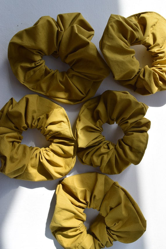 Pistachio Cotton Hair Scrunchies