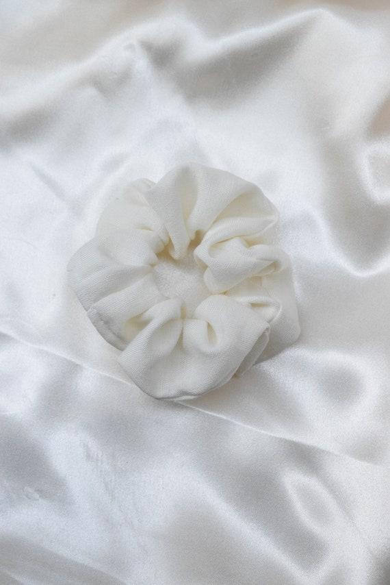 White Linen Scrunchie
