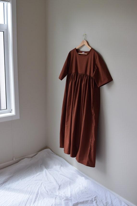 Clay Cotton Gathered Dress