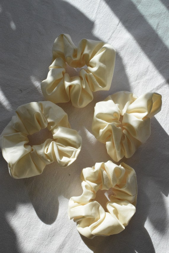 Vanilla Cotton Hair Scrunchie