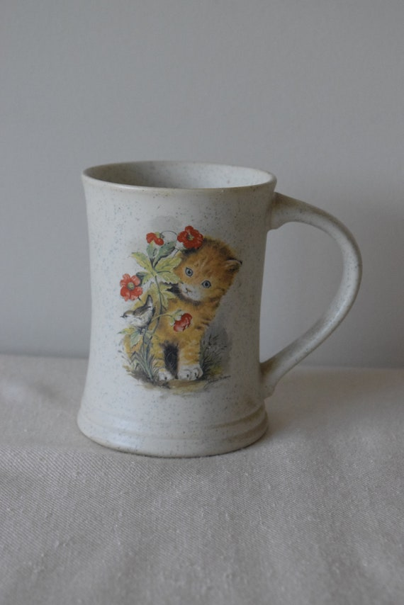 Vintage Ceramic Cat Mug