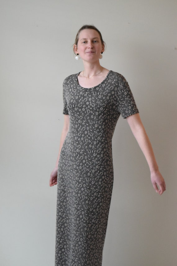 Floral Floor Length T-shirt Dress